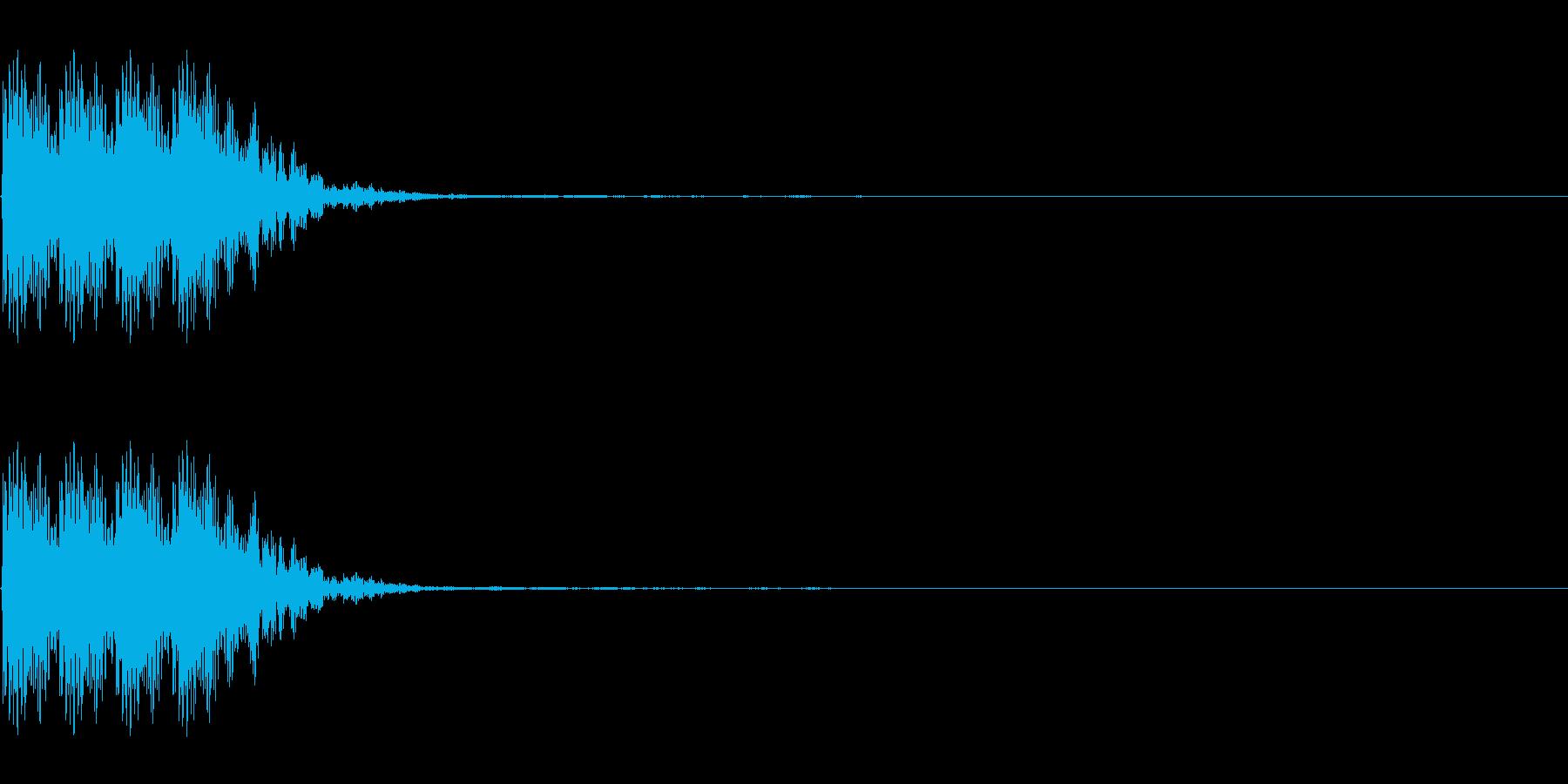 連打 チョップ ツッコミ キック の再生済みの波形