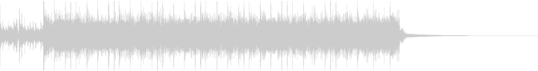 シンプルなメタルリフジングルの未再生の波形