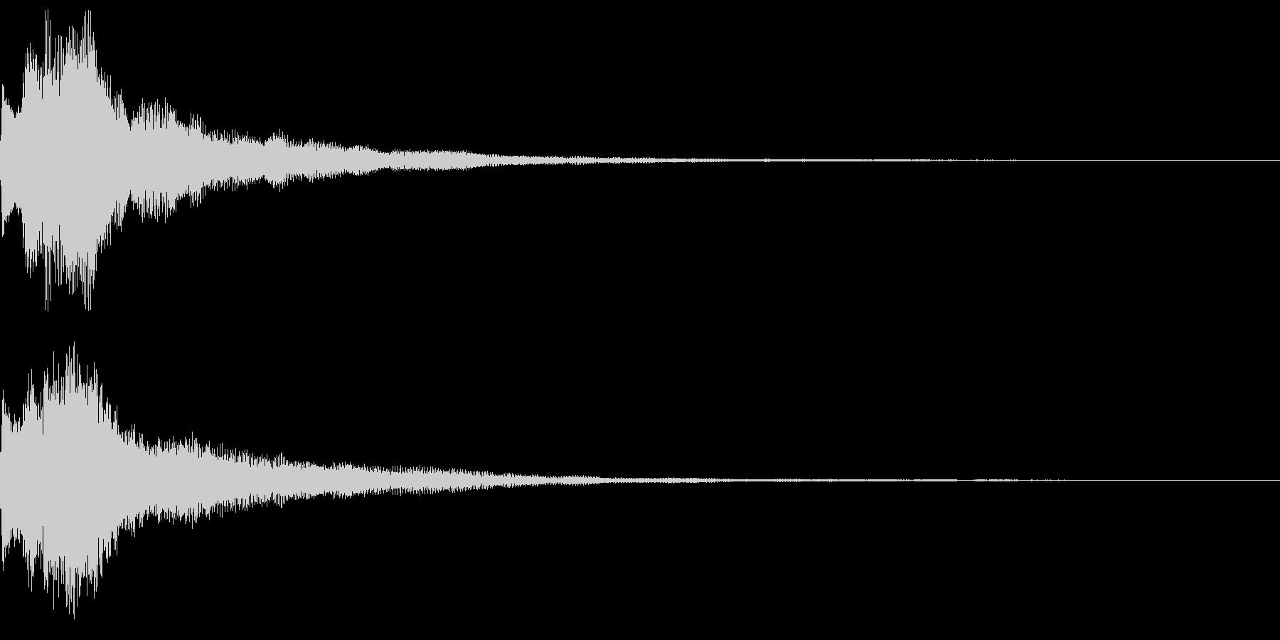 キラキラ キランなアタック音6-2の未再生の波形