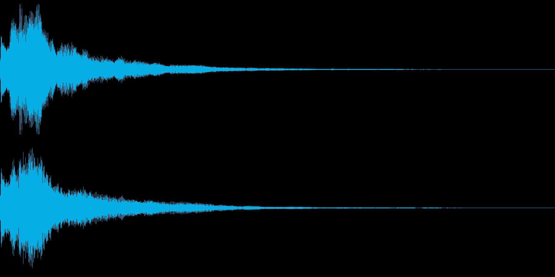 キラキラ キランなアタック音6-2の再生済みの波形