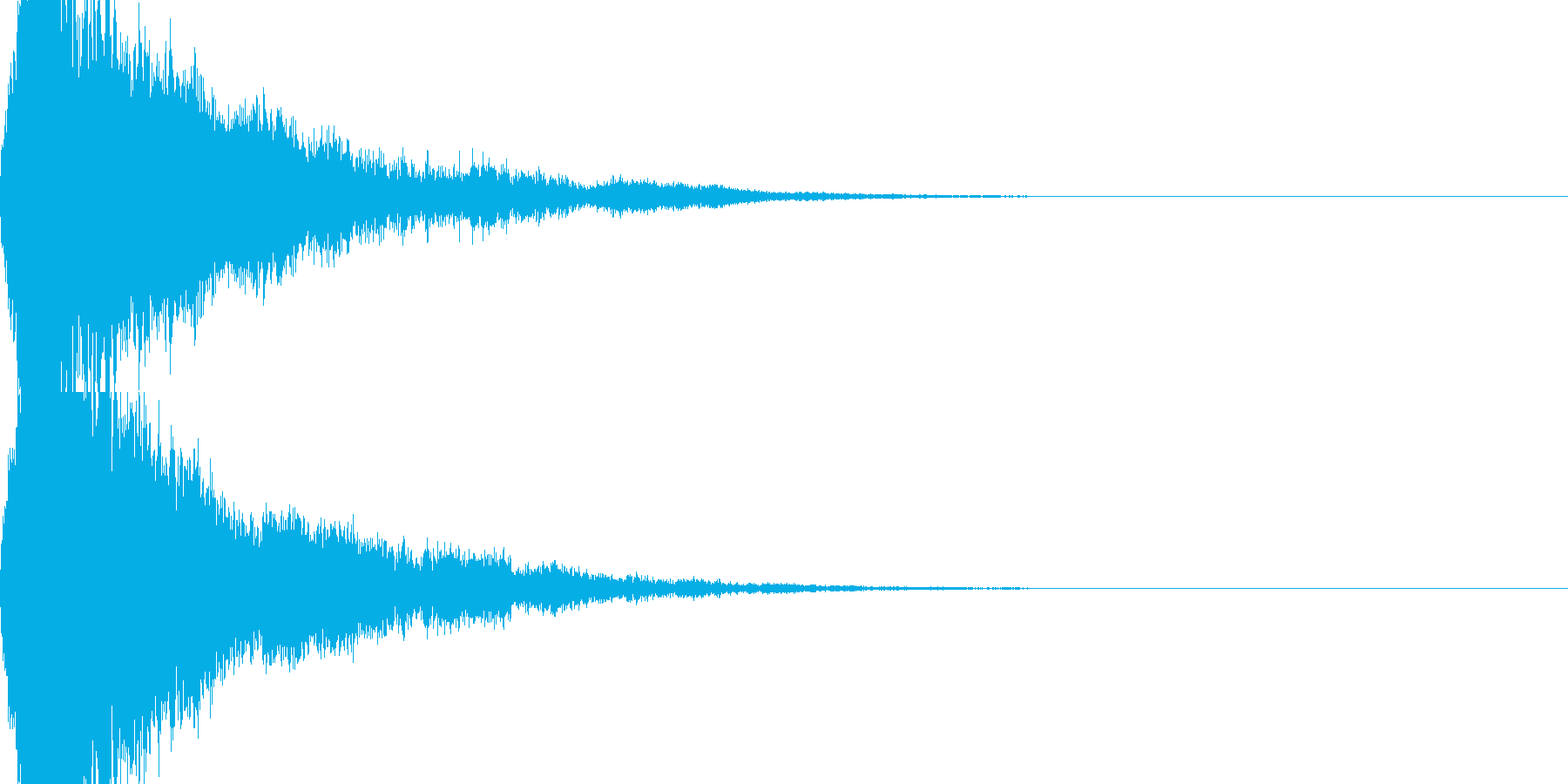 ガキーン・甲高い音で衝突する刀の再生済みの波形