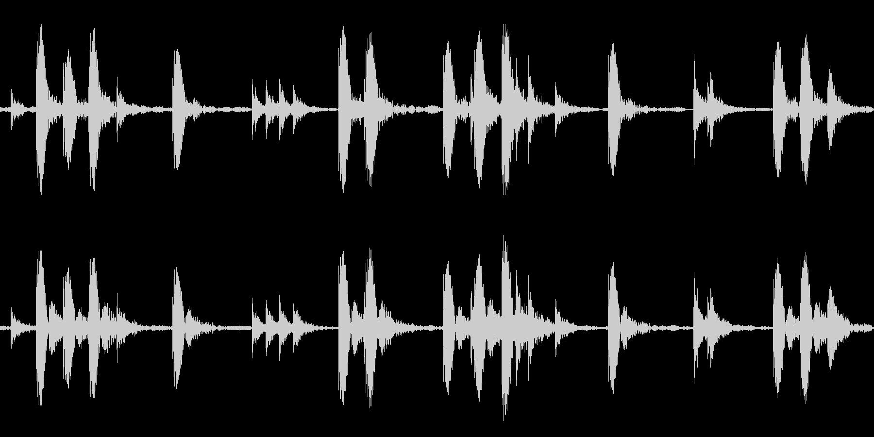 African ラテンアフリカ ビートの未再生の波形