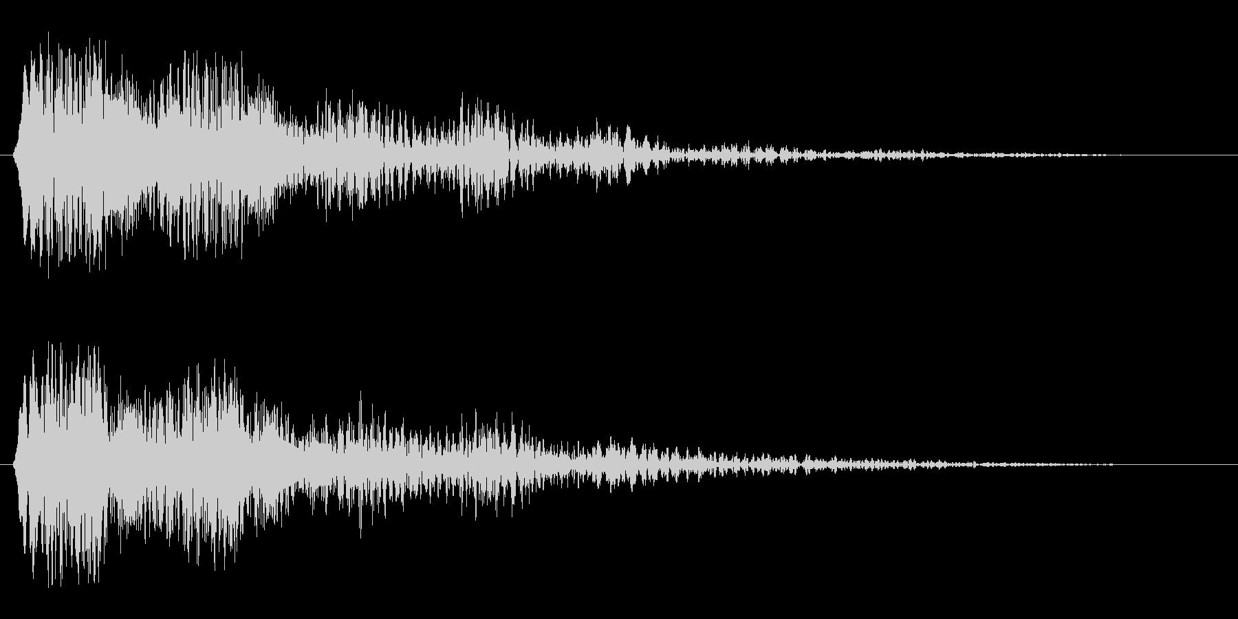 レーザービーム発射(ピピューン)の未再生の波形