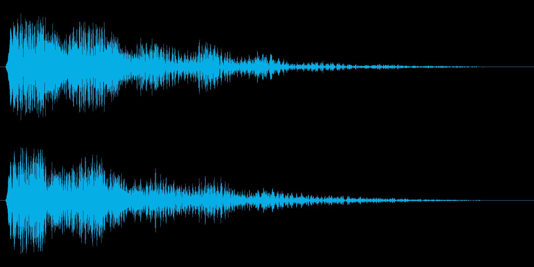 レーザービーム発射(ピピューン)の再生済みの波形