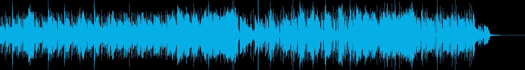 都会的なスムースジャズファンクBGMの再生済みの波形