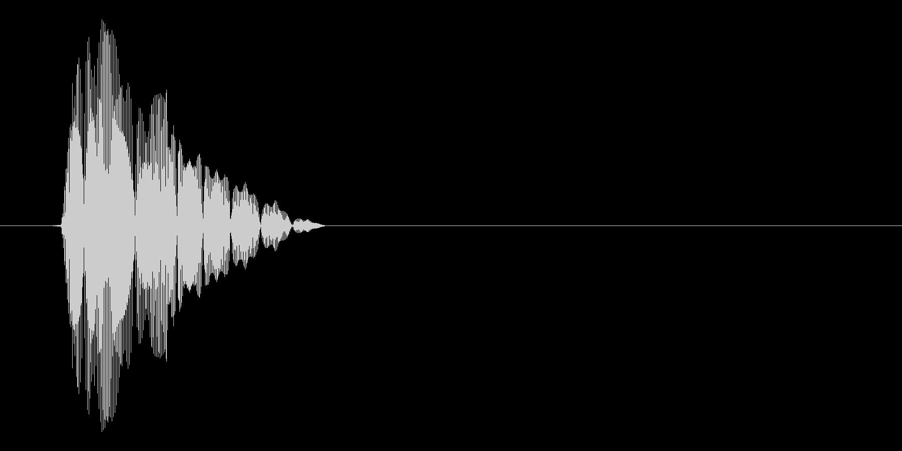 ピコッ(選択、カーソル、間の抜けたSE)の未再生の波形