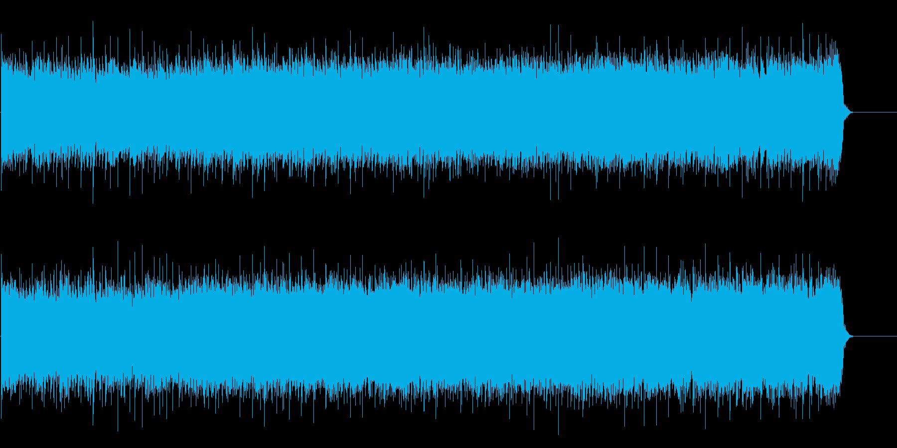 気持ち高ぶる情熱的なヘヴィロックの再生済みの波形