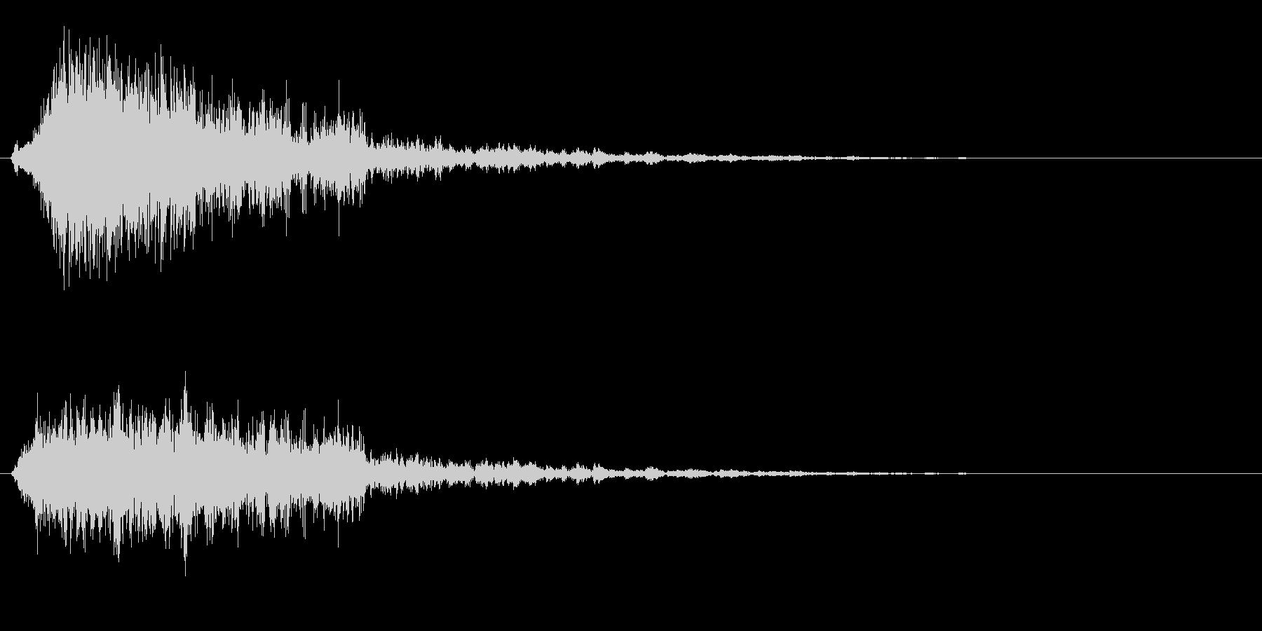 ピシューン、ビーム発射音や破裂音の未再生の波形
