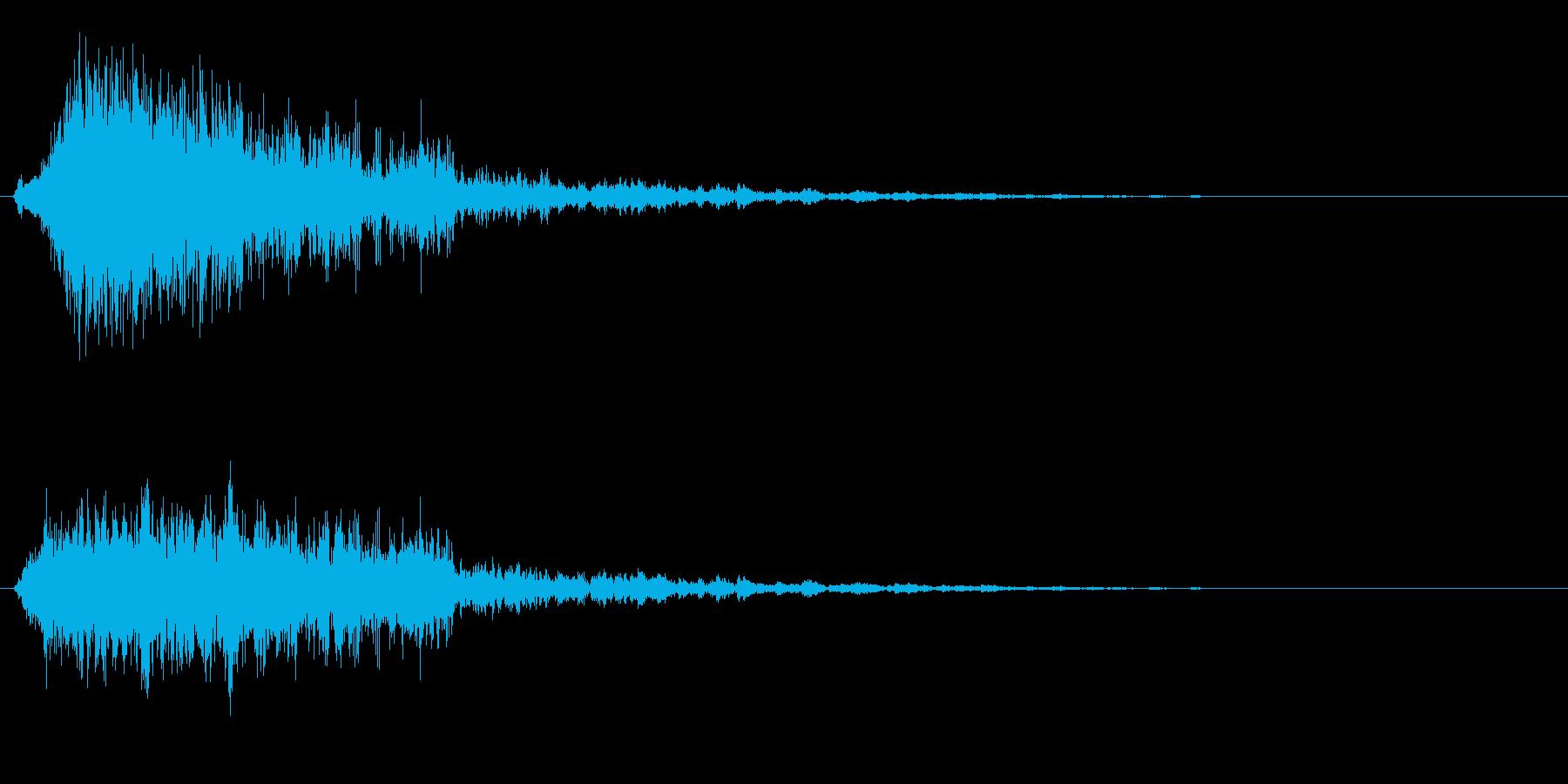 ピシューン、ビーム発射音や破裂音の再生済みの波形
