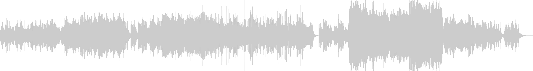 琴(生演奏)の音色が美しい和風曲の未再生の波形