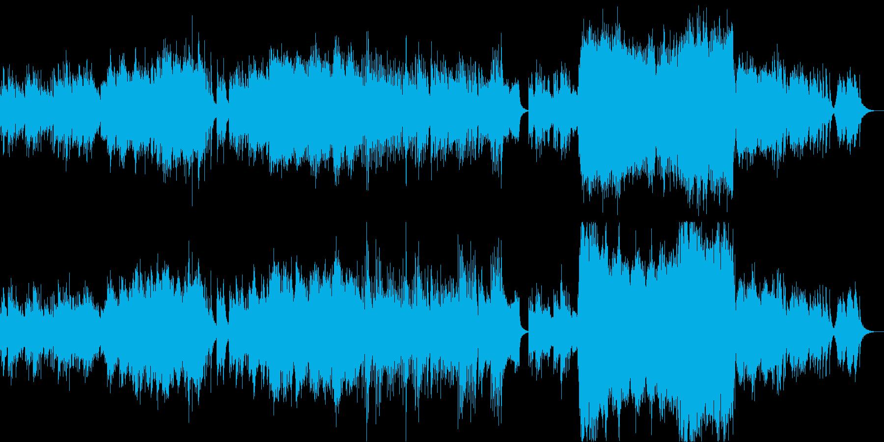 琴(生演奏)の音色が美しい和風曲の再生済みの波形