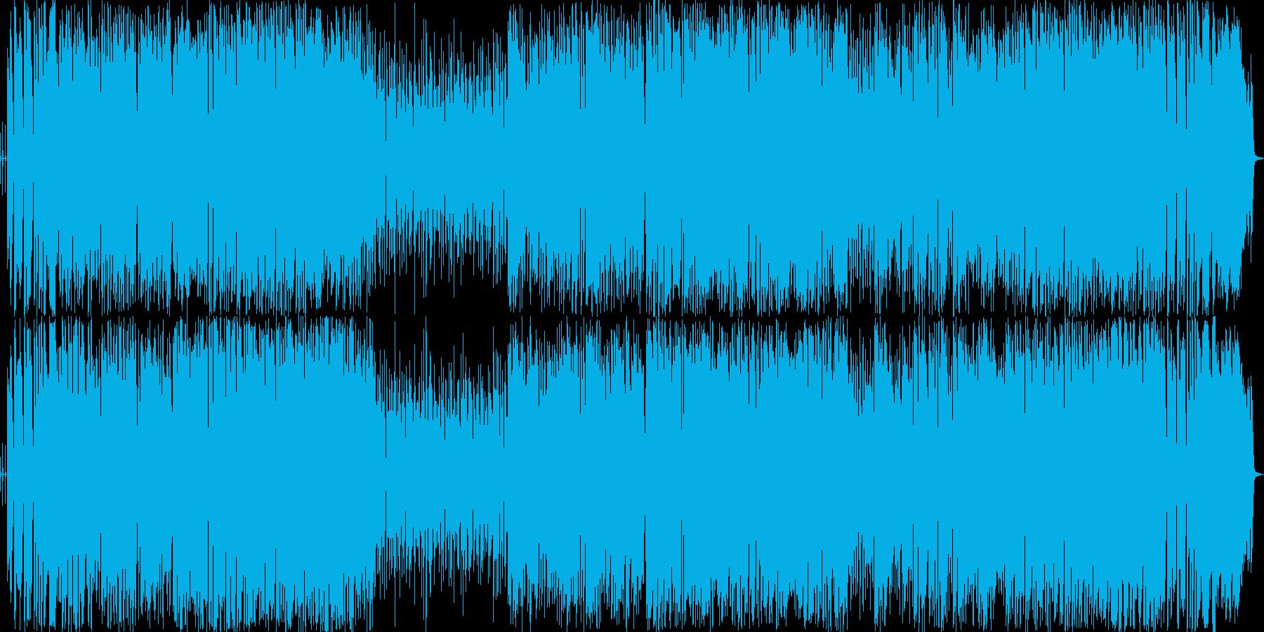 パワフルでおしゃれなビッグバンド曲の再生済みの波形
