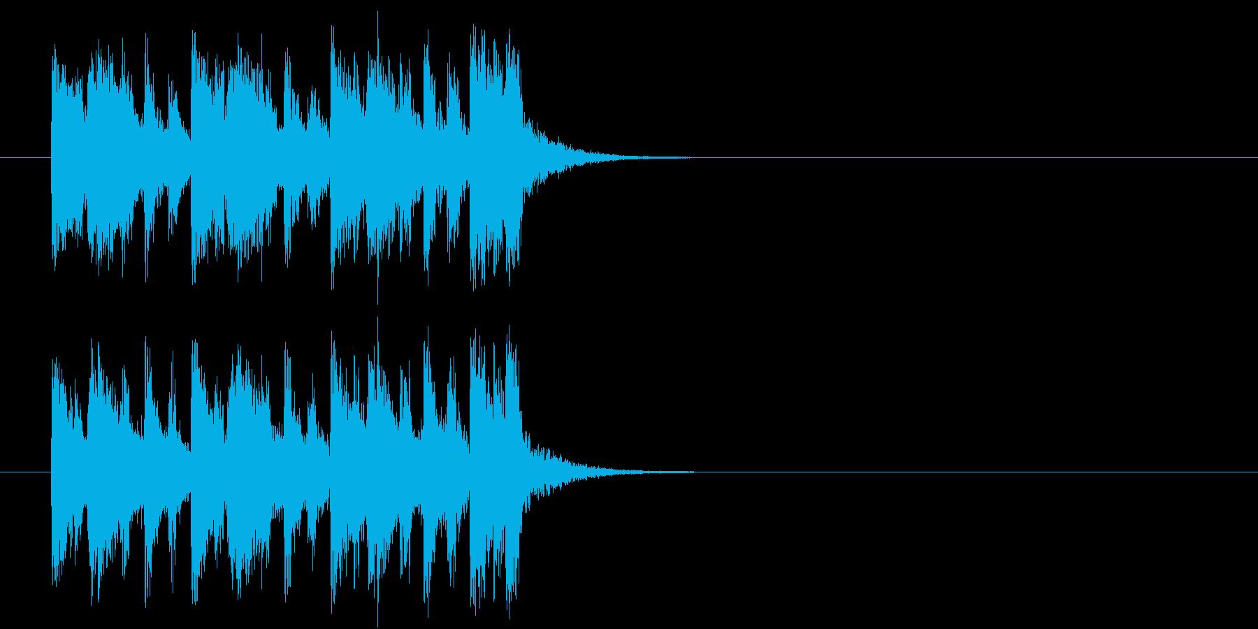 ジングル/爽やか(ポップ)の再生済みの波形