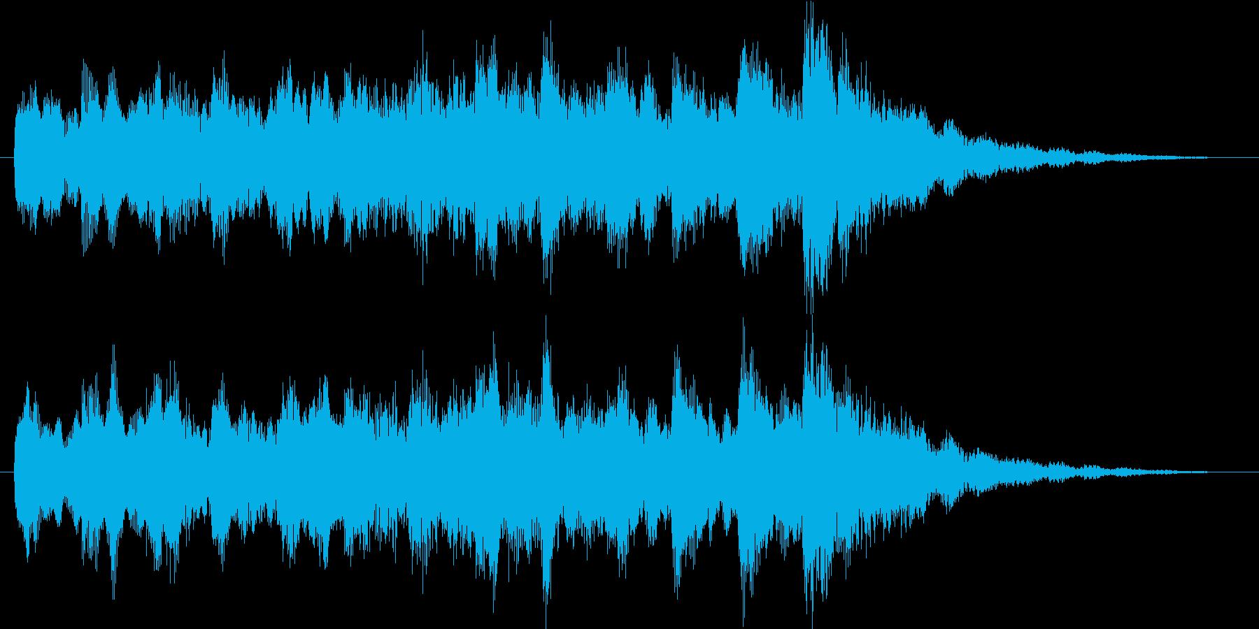 時報チャイムの再生済みの波形