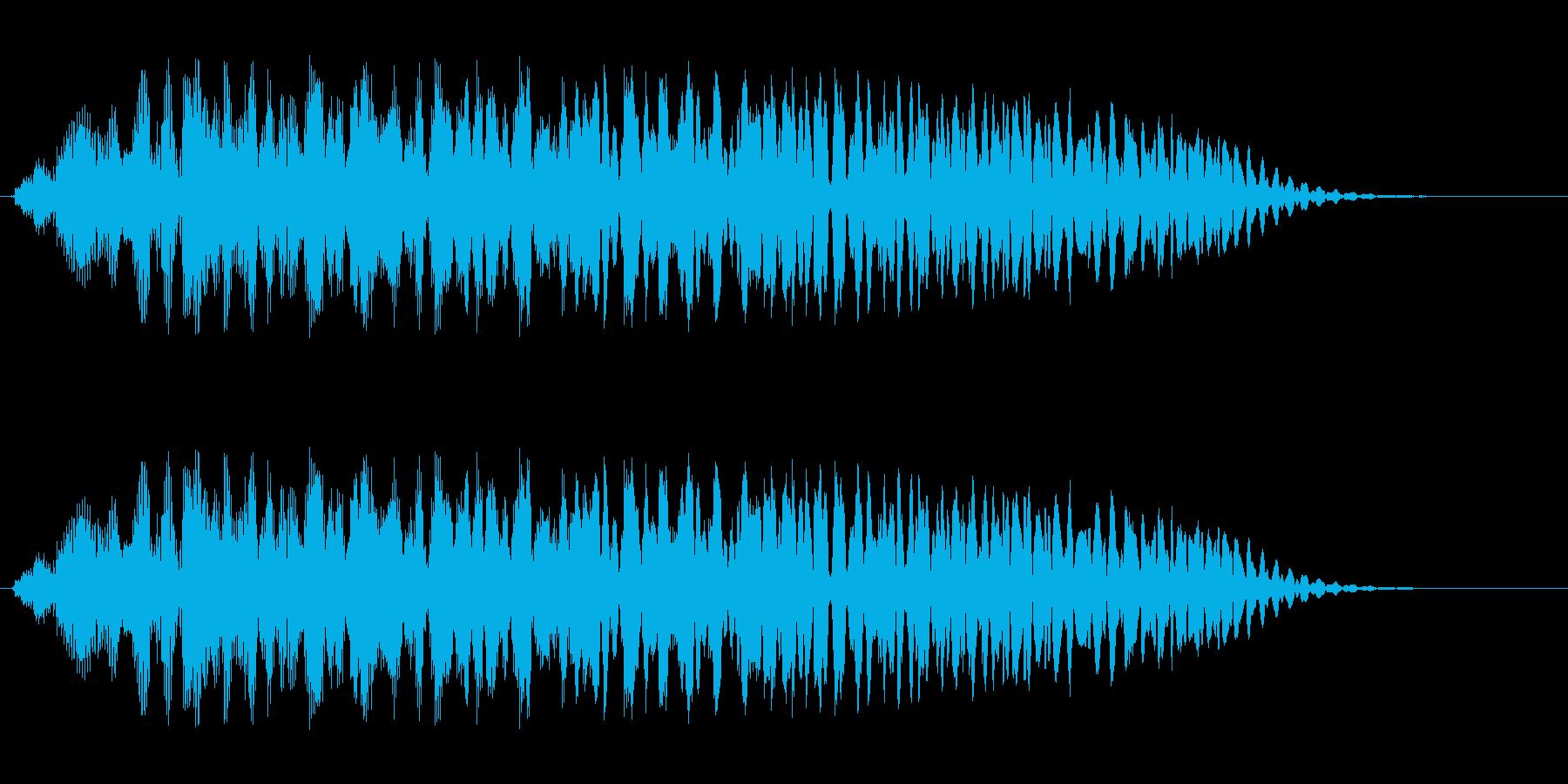 ギュルルル(巻き上げるような音)の再生済みの波形