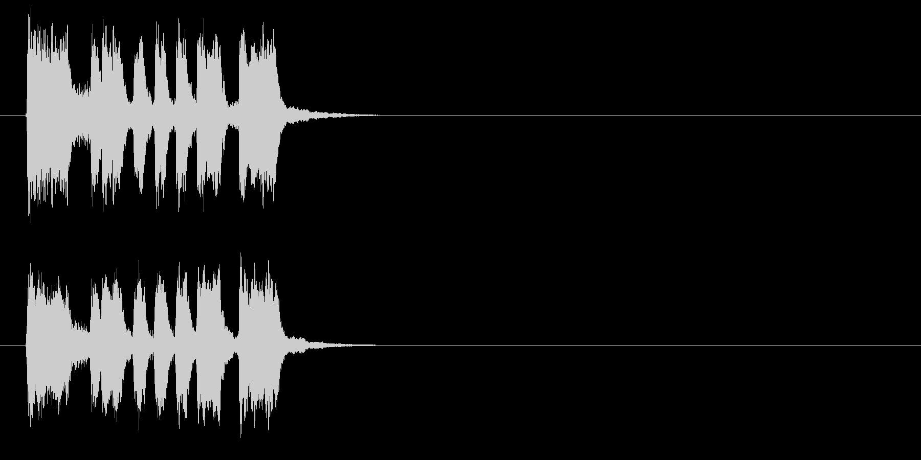 テンポが良く明るいジングル、サウンドロゴの未再生の波形