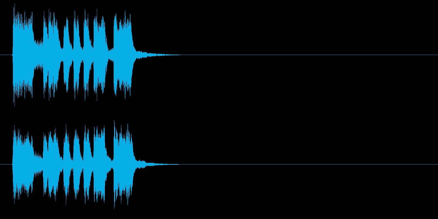 テンポが良く明るいジングル、サウンドロゴの再生済みの波形