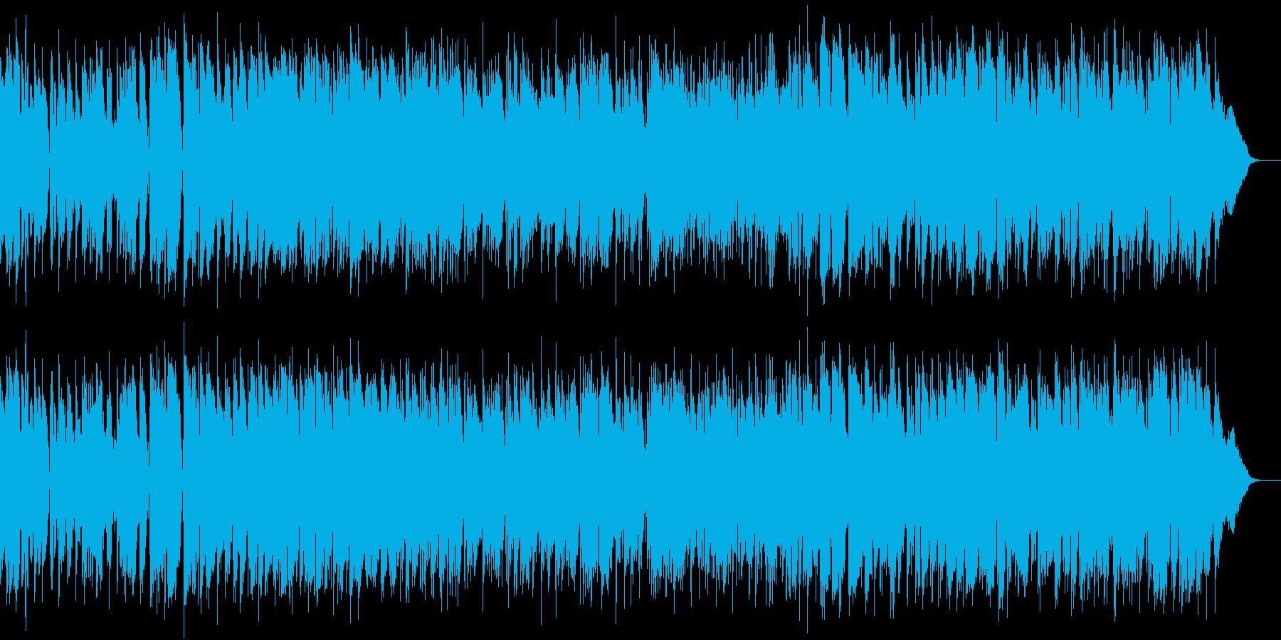 ゆったりしたカフェボサノバの再生済みの波形