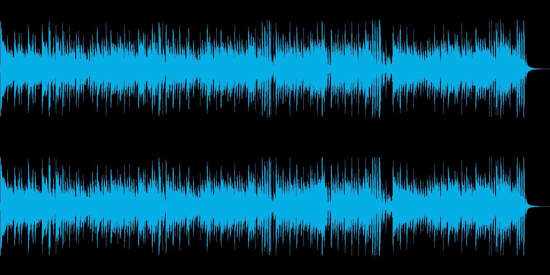 アコーディオンが軽快な映像曲の再生済みの波形