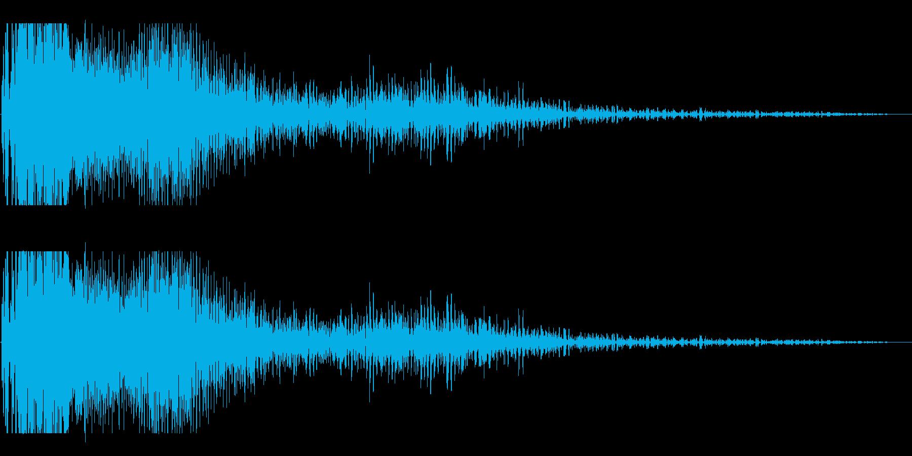 超強力なレーザービーム発射(ドギューン)の再生済みの波形