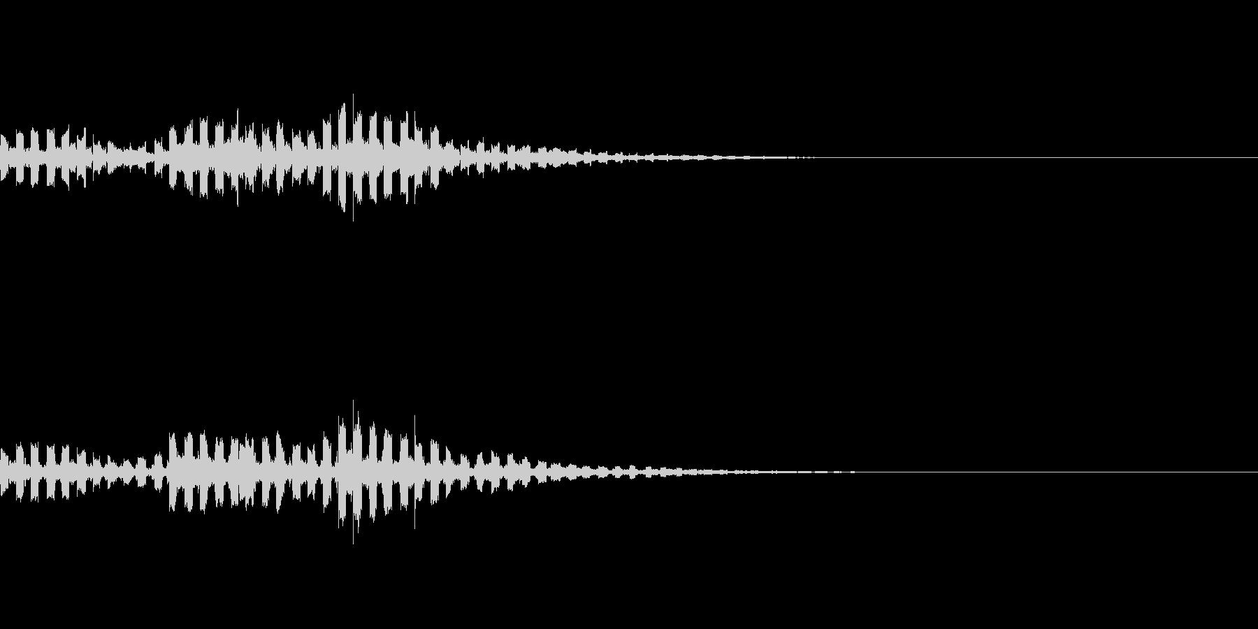 コミカルなUFO飛来音の未再生の波形