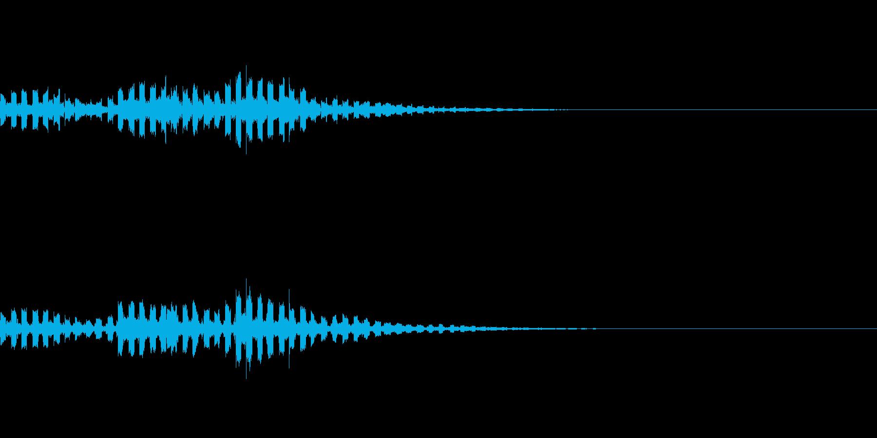 コミカルなUFO飛来音の再生済みの波形