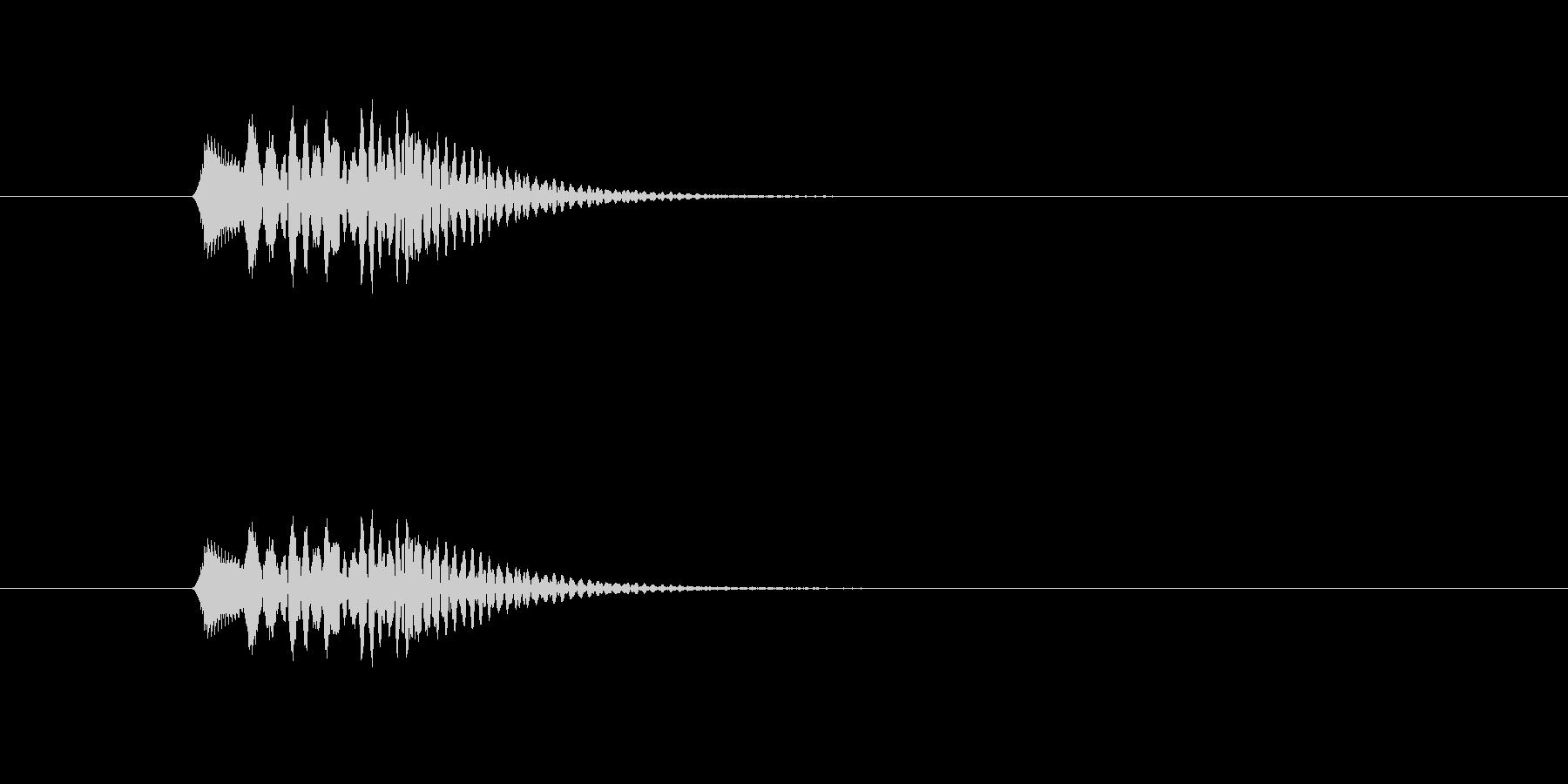 チロリーン(選択、ハープ)の未再生の波形