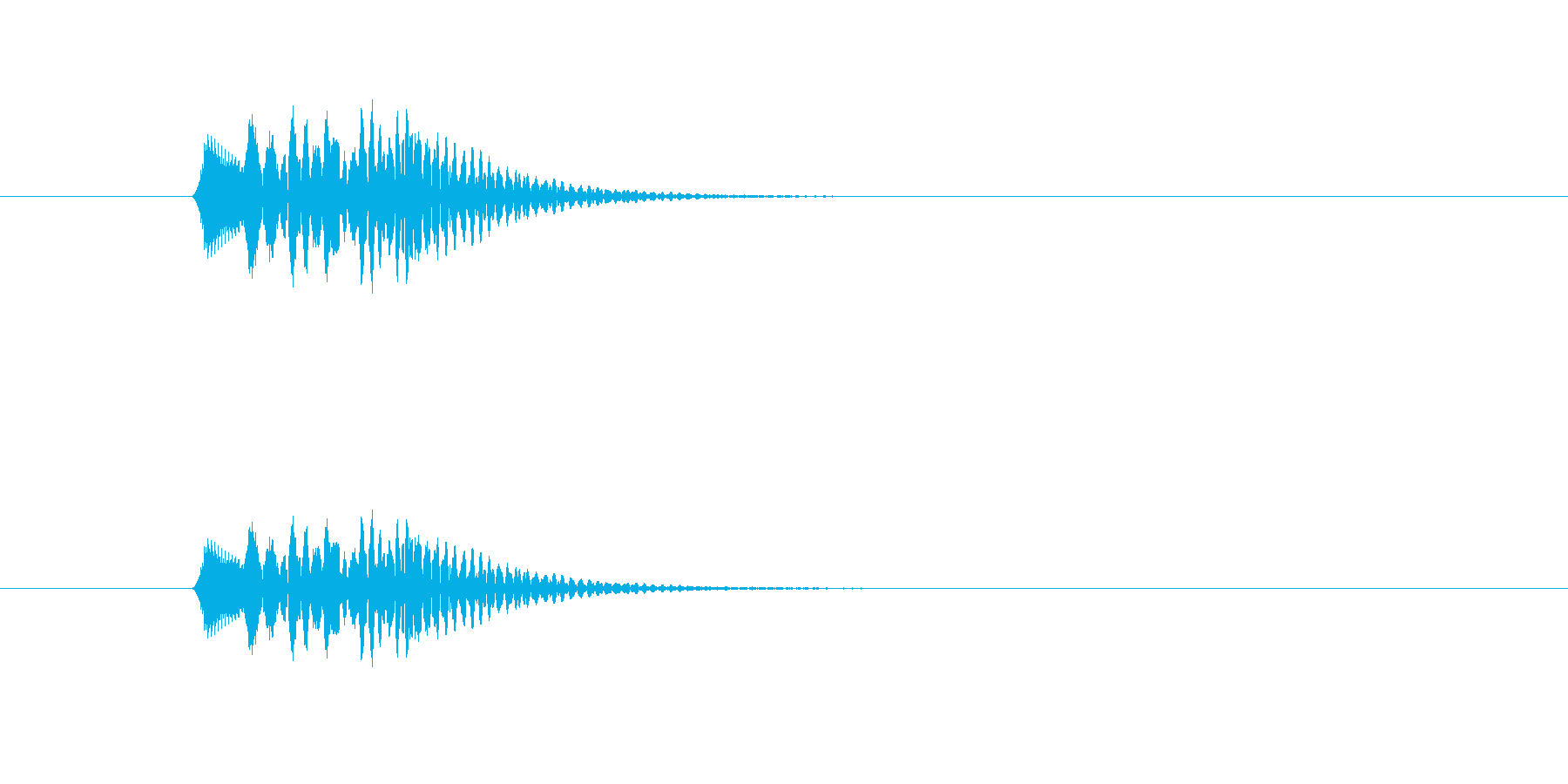 チロリーン(選択、ハープ)の再生済みの波形