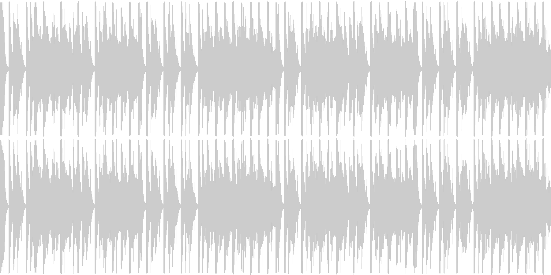 【ループ】レース2位通過のリザルトBGMの未再生の波形