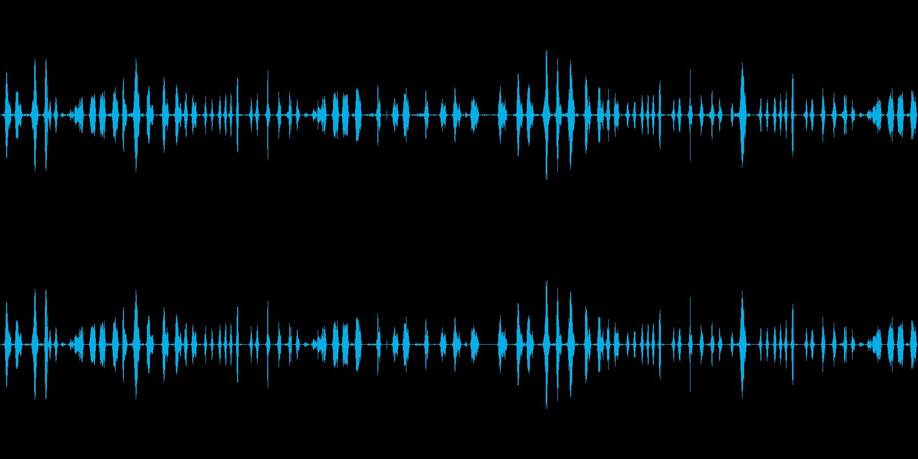 喋ってる声を巻き戻しした音の再生済みの波形