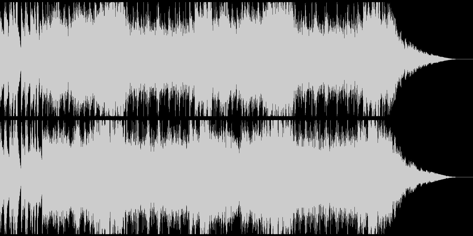 明るいオーケストラクリスマスの未再生の波形