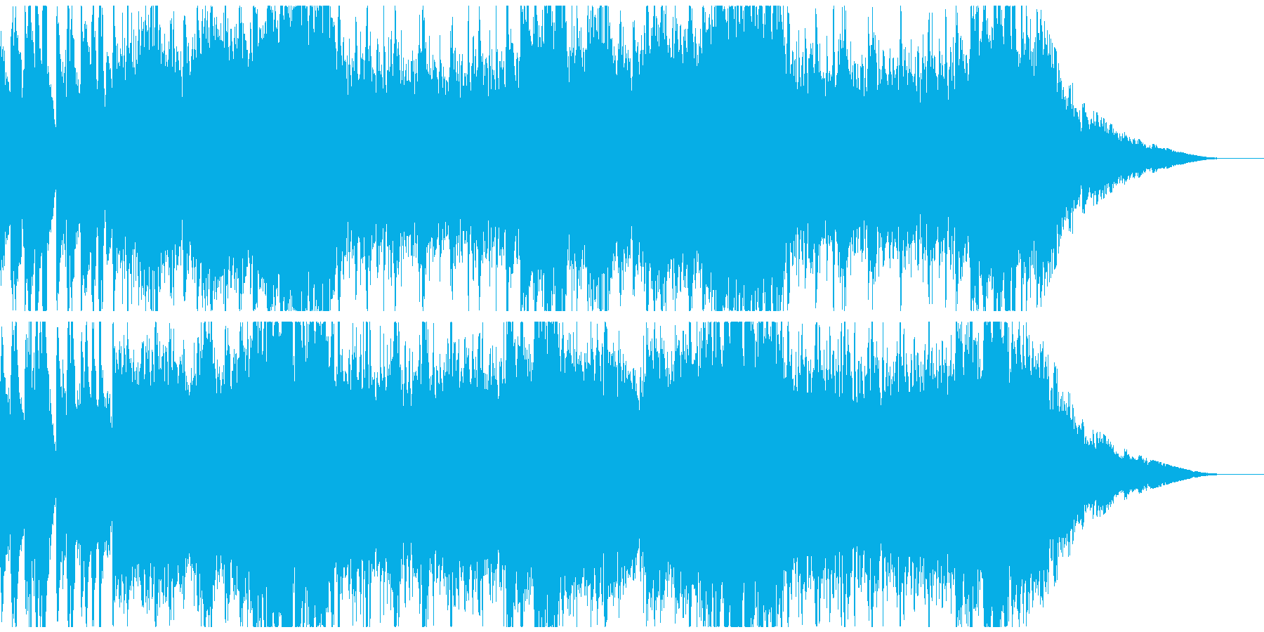明るいオーケストラクリスマスの再生済みの波形