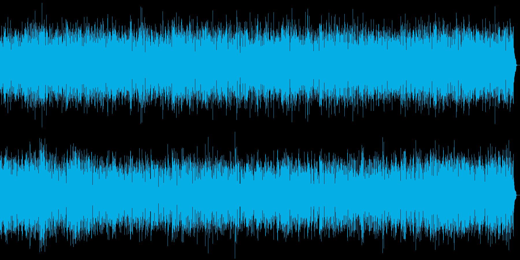 軽快でポップなオシャレなピアノの再生済みの波形