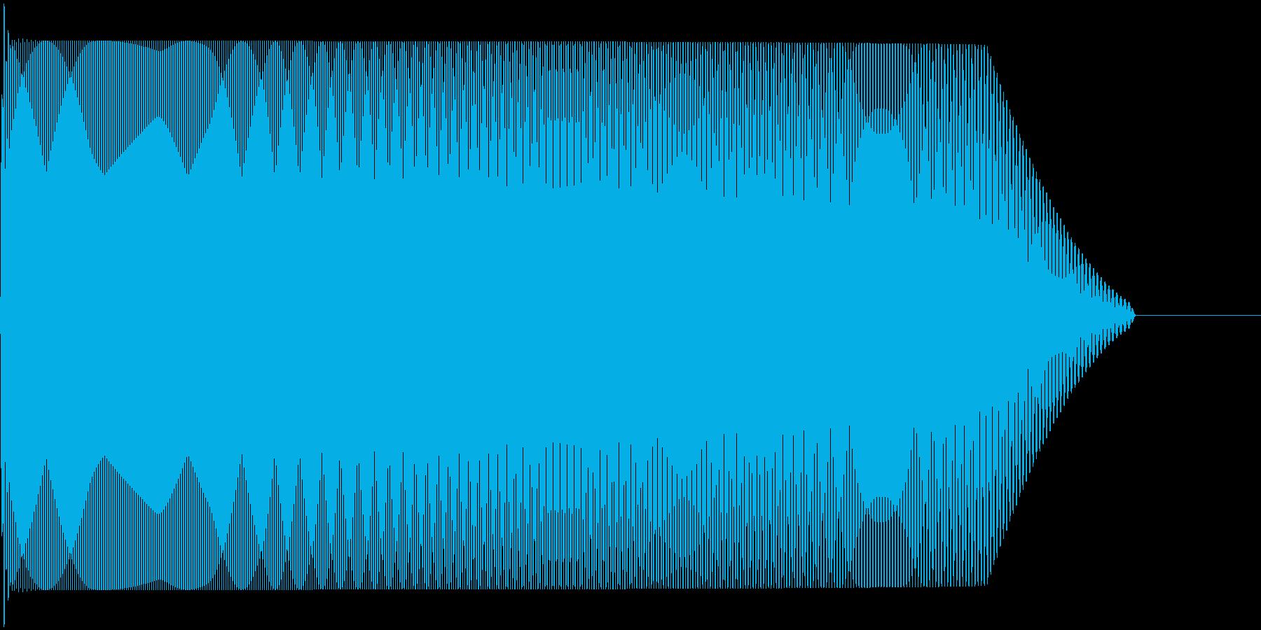 メタルコアベースドロップ B1→B0の再生済みの波形