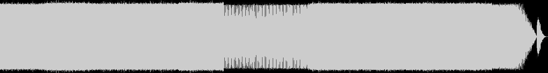 スピード感のあるEDMの未再生の波形