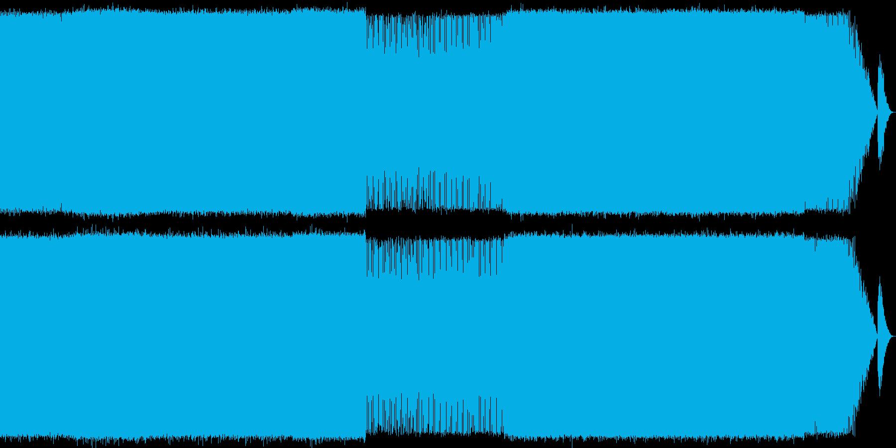 スピード感のあるEDMの再生済みの波形