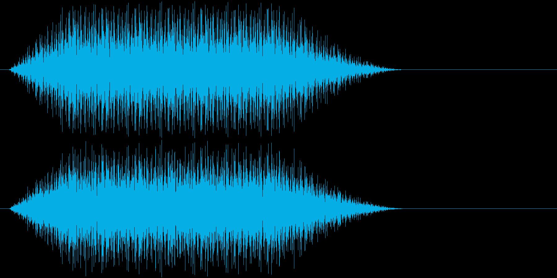 場面 拍手の再生済みの波形