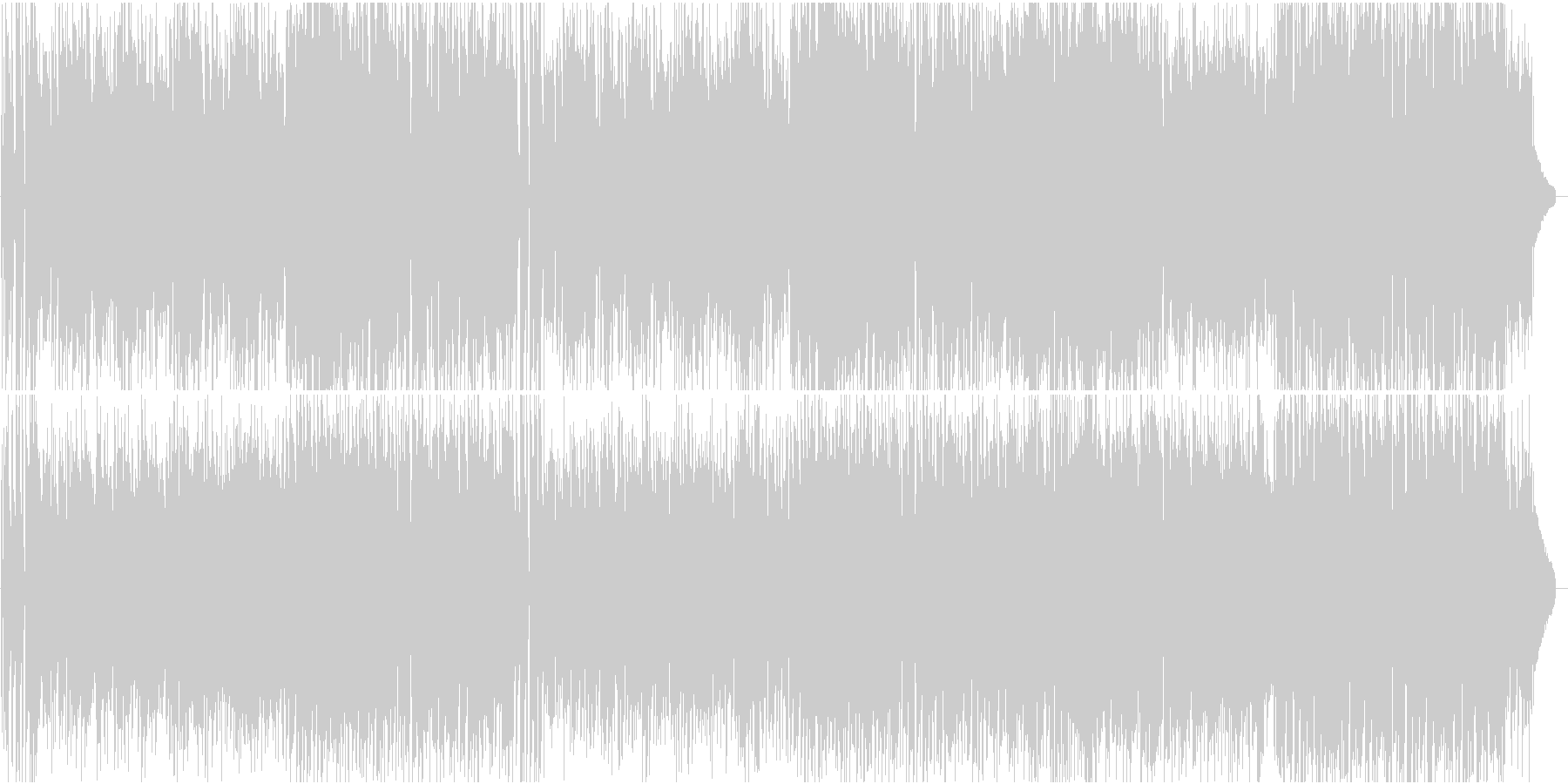 明るいシンセサウンドのポップスの未再生の波形