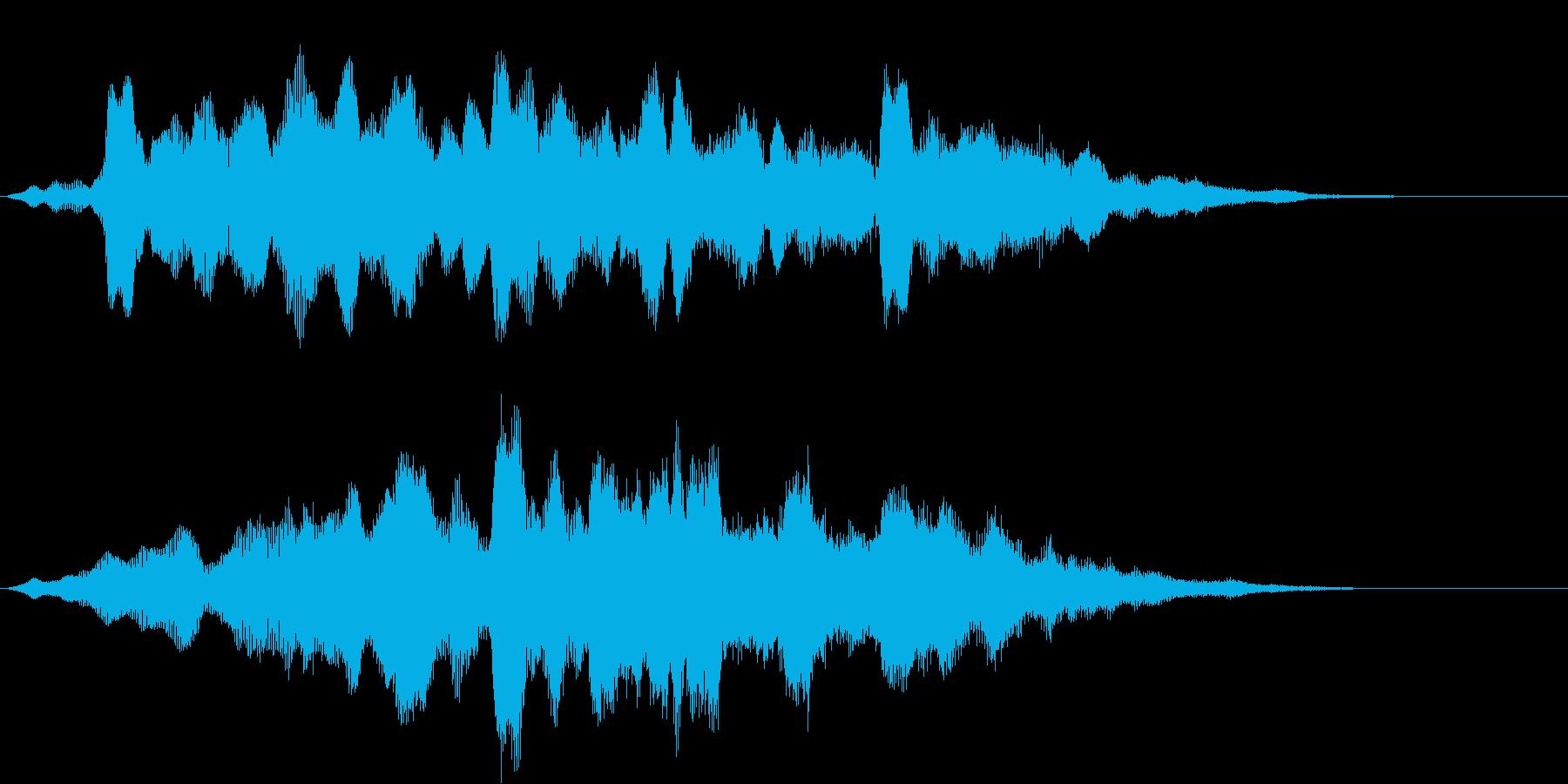 明るいイメージのサウンドロゴ03の再生済みの波形