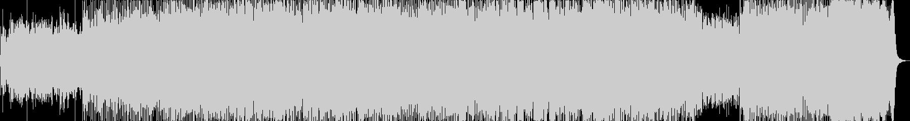 和楽器とロックの激しいBGMの未再生の波形