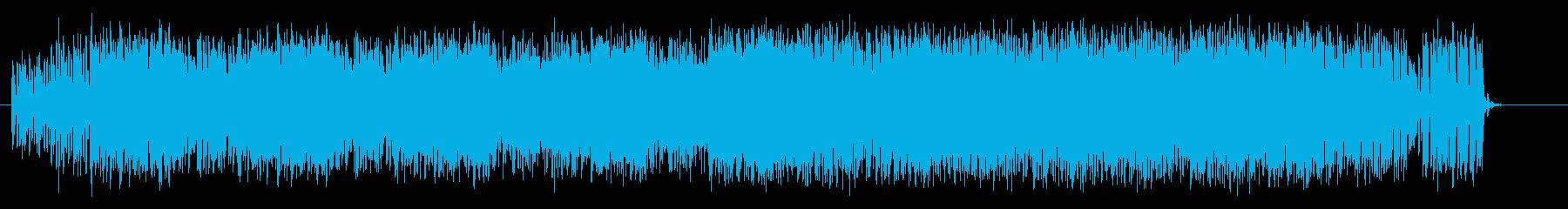疾走感、浮遊感のあるループしたテクノの曲の再生済みの波形