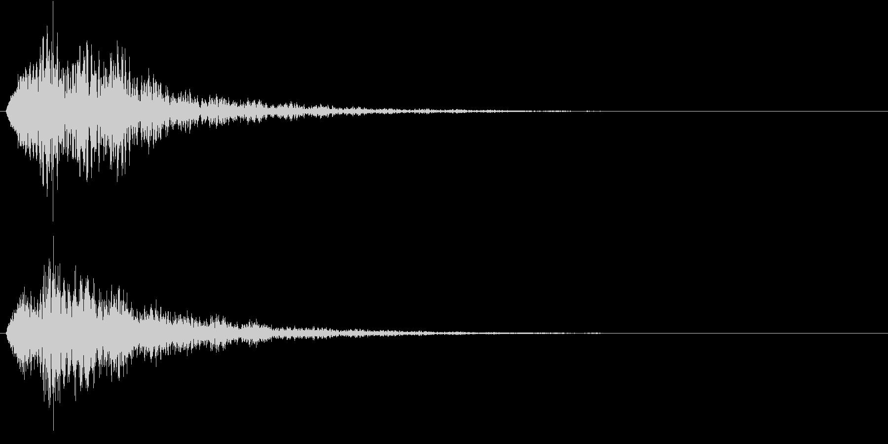 サウンドロゴ(ホワーン)の未再生の波形