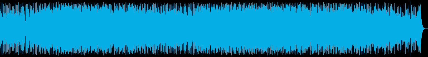 激しいシンセ・ドラムなどポップハウス系の再生済みの波形