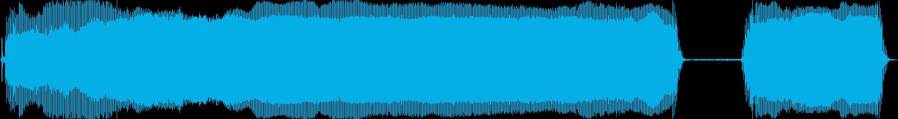 髭剃りシャーバーの音の再生済みの波形