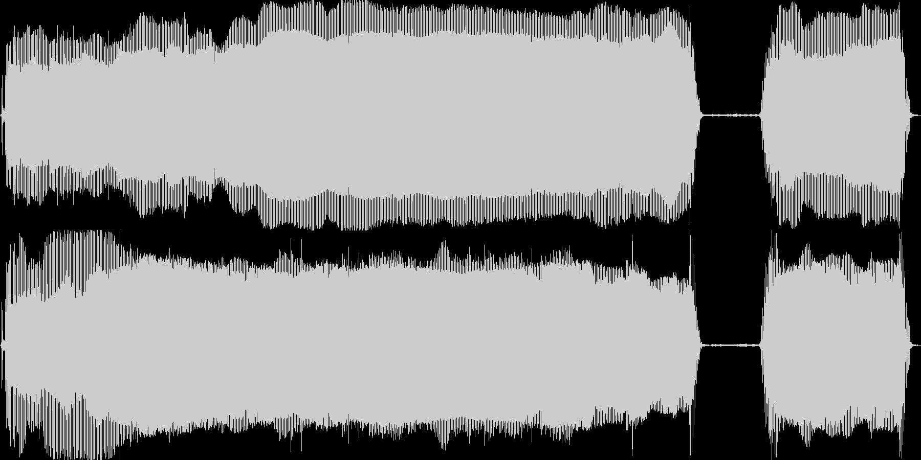 髭剃りシャーバーの音の未再生の波形