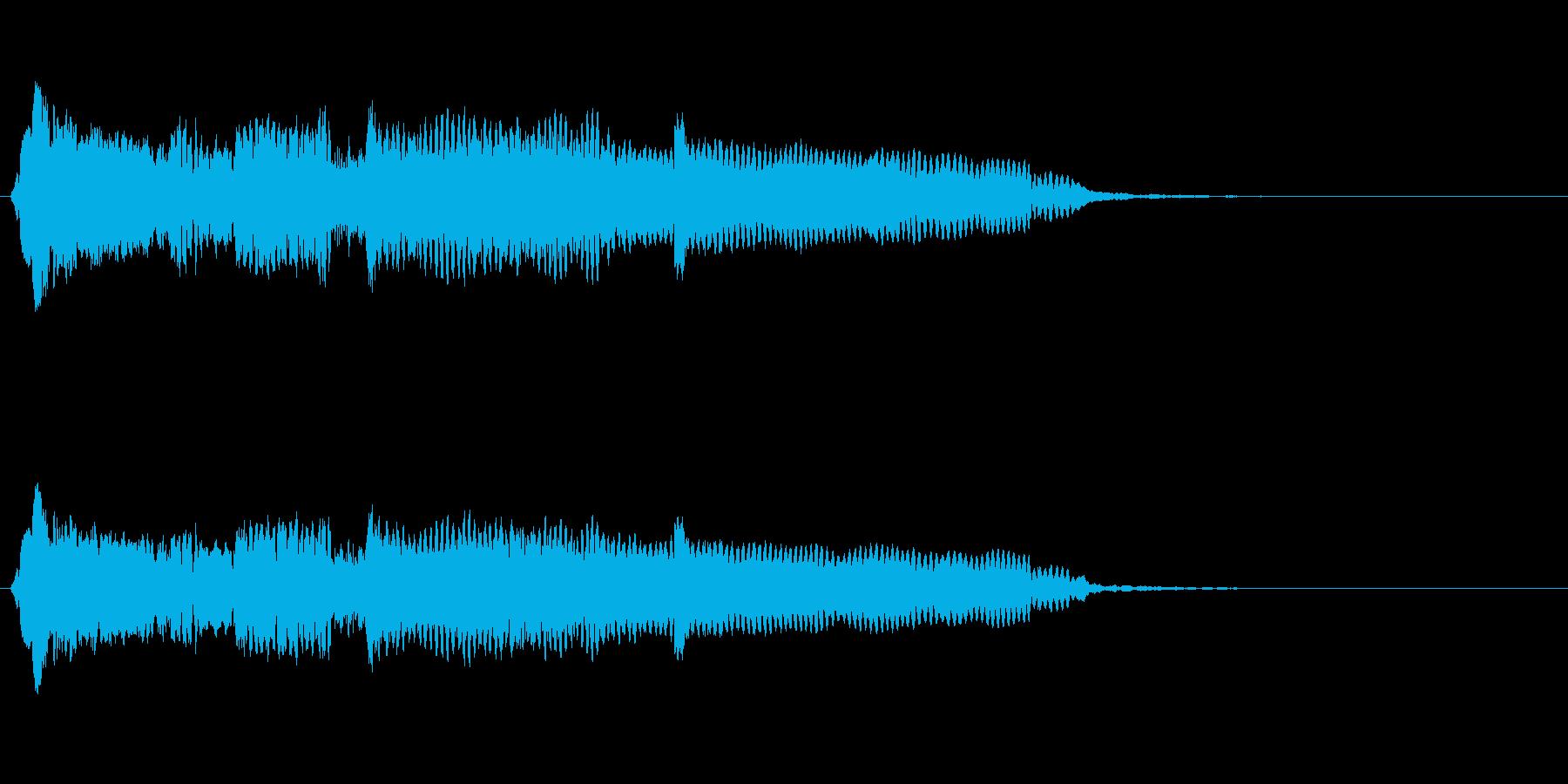 音侍SE「尺八フレーズ1」エニグマ音14の再生済みの波形