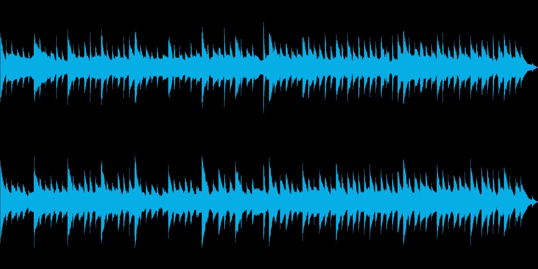 クリスマス系のキラキラした曲 ループ化の再生済みの波形