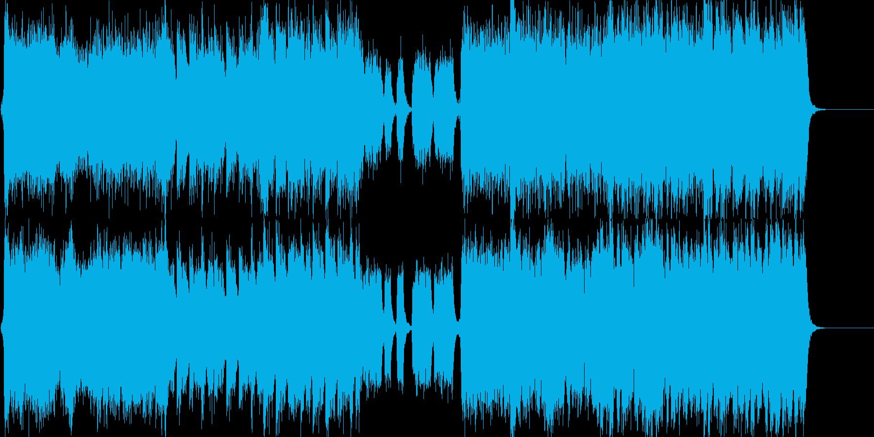 ゲームのラストバトルに向いた楽曲の再生済みの波形