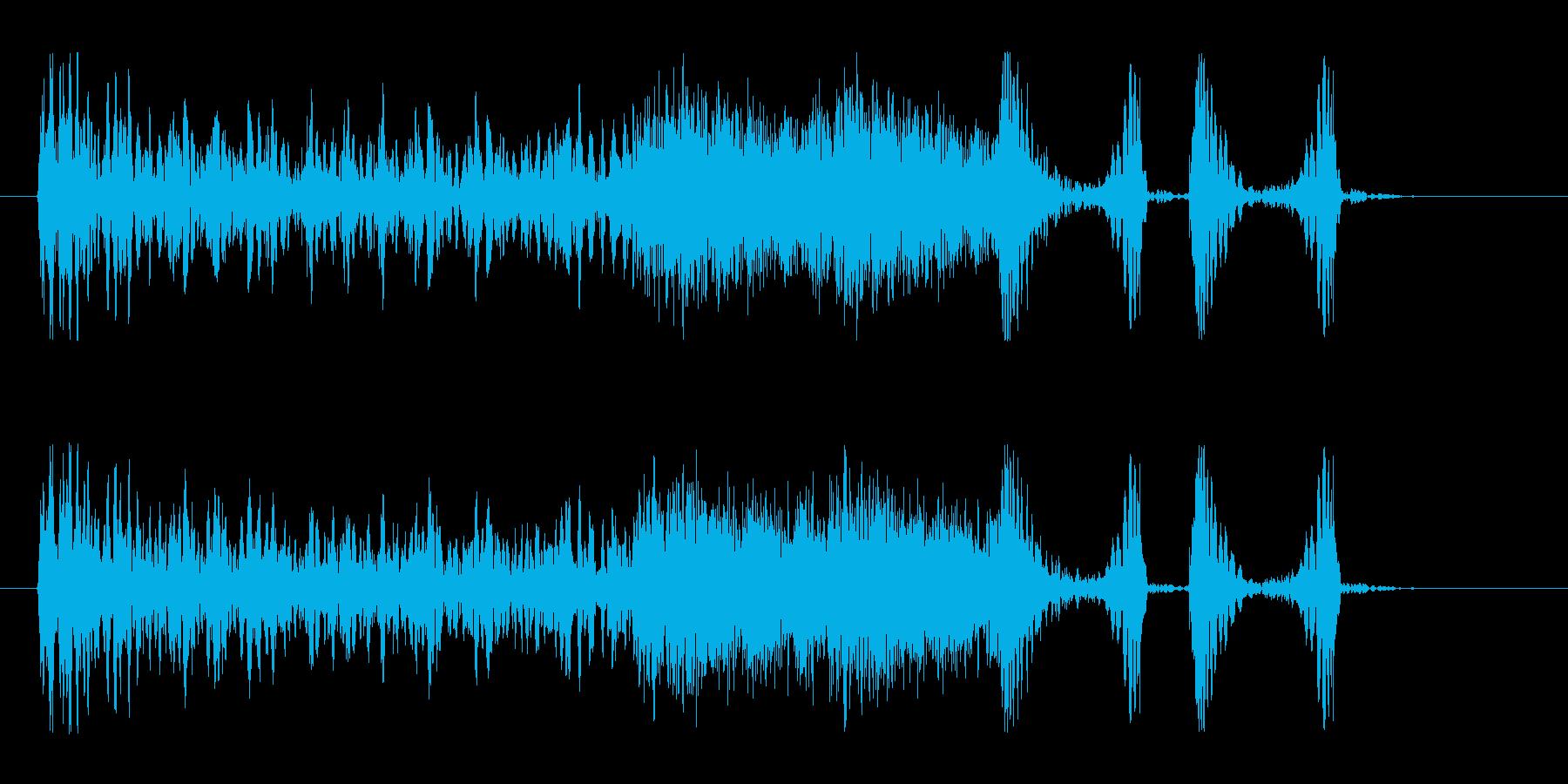 【つまずく感じ1】の再生済みの波形
