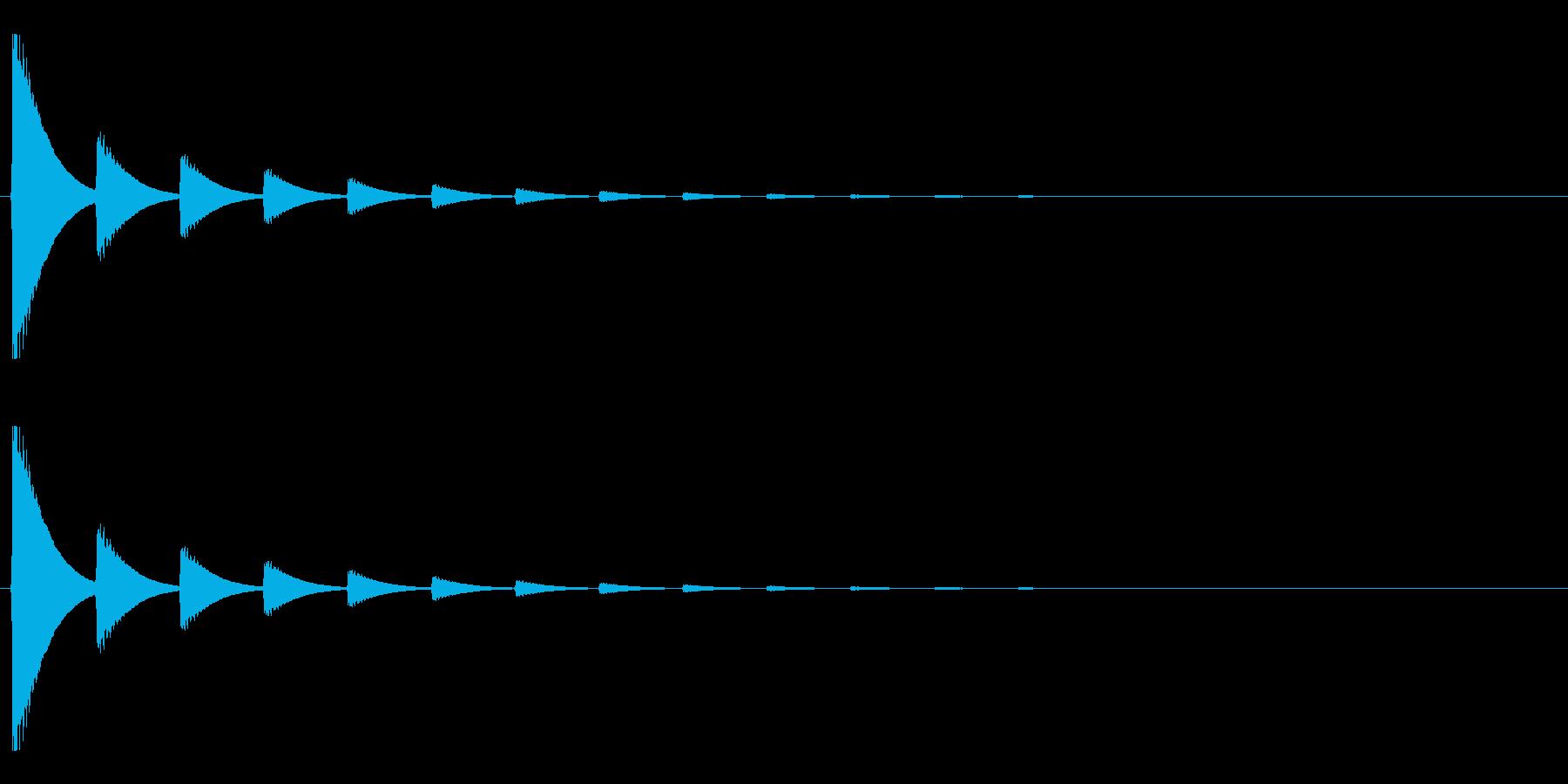 【アクセント05-2】の再生済みの波形
